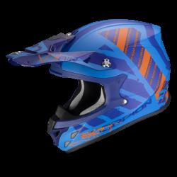 Casco Scorpion Vx-21 Air Urba Azul/Naranja Mate.