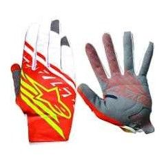 GUANTES ALPINESTARS RACE SUPERMATIC ROJO/AMARILLO